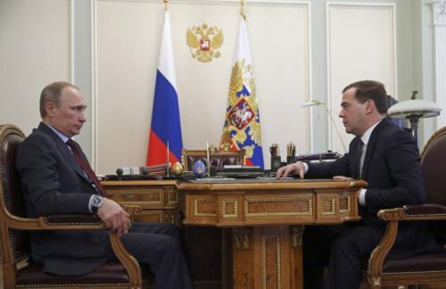 Путин и Медведев обсудили проект бюджета-2017